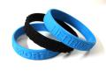100% Silicone Bracelets , Standard Adult Size. - White