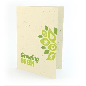 """Growing Green"" Earth Day Seed Paper Card"